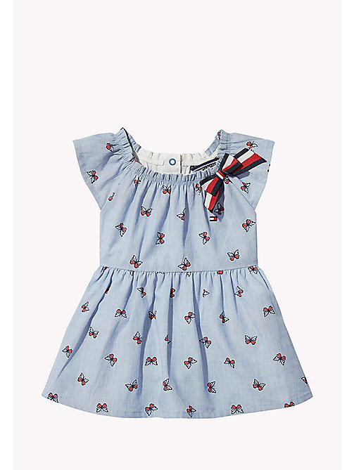 TOMMY HILFIGER Butterfly Print Baby Dress - BRIGHT COBALT - TOMMY HILFIGER Girls - main image