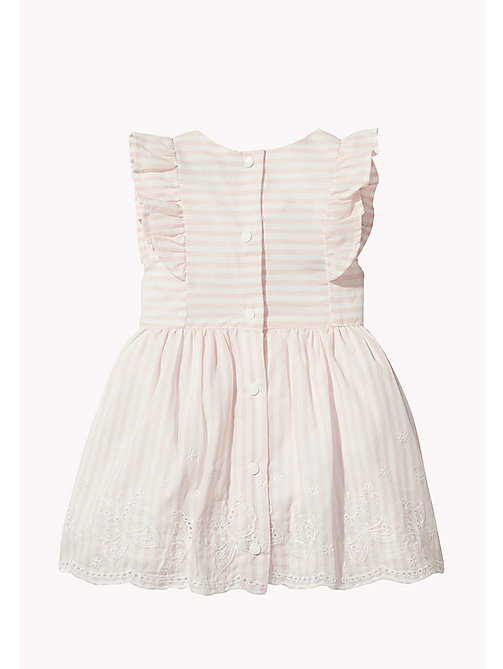 TOMMY HILFIGER Stripe Baby Dress - PEACHSKIN - TOMMY HILFIGER Girls - detail image 1