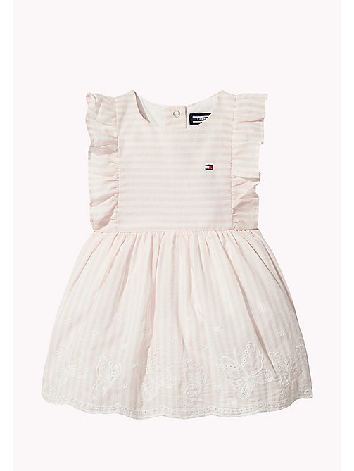 TOMMY HILFIGER Stripe Baby Dress - PEACHSKIN -  Girls - main image