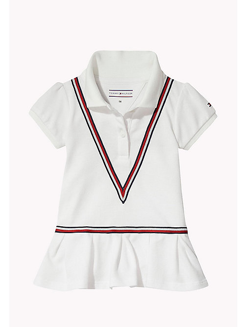 TOMMY HILFIGER Polo Baby Dress - BRIGHT WHITE - TOMMY HILFIGER Babies - main image