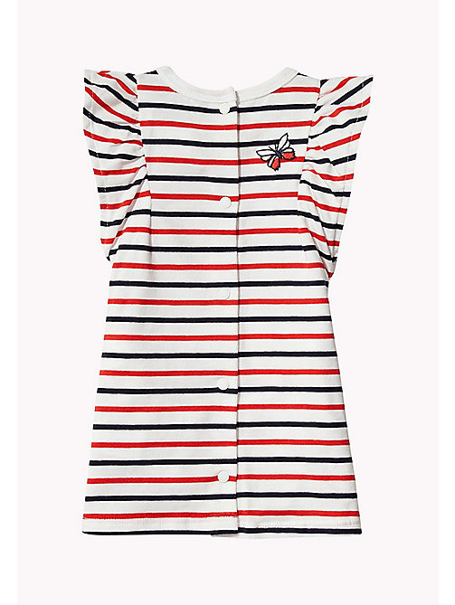 TOMMY HILFIGER Stripe Baby Dress - FLAME SCARLET - TOMMY HILFIGER Kids - detail image 1