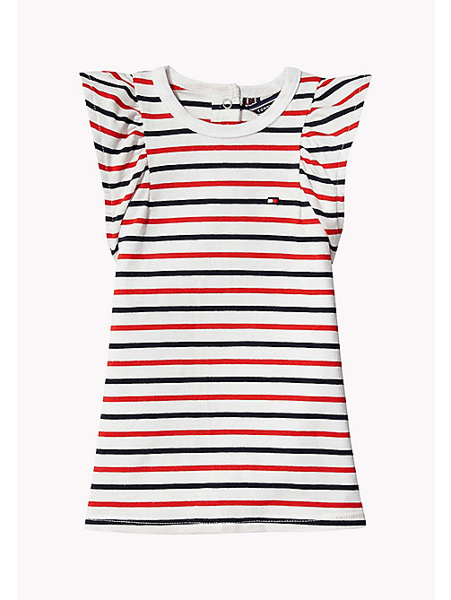 TOMMY HILFIGER Stripe Baby Dress - FLAME SCARLET - TOMMY HILFIGER Girls - main image