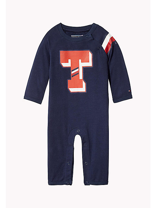TOMMY HILFIGER Logo Print All-In-One - BLACK IRIS - TOMMY HILFIGER Babies - main image