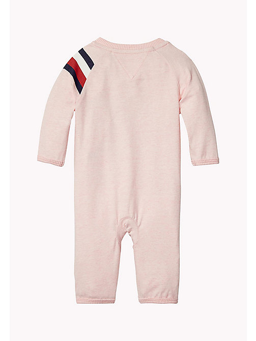 TOMMY HILFIGER Logo Print All-In-One - PEACHSKIN HTR - TOMMY HILFIGER Babies - detail image 1