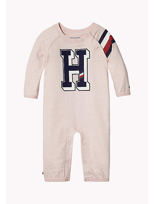 TOMMY HILFIGER Logo Print All-In-One - PEACHSKIN HTR - TOMMY HILFIGER Babies - main image