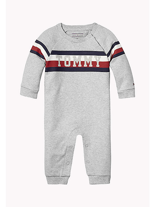TOMMY HILFIGER Baby Coverall - LIGHT GREY HTR - TOMMY HILFIGER Boys - main image