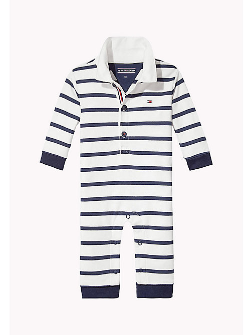 TOMMY HILFIGER Tutina a righe all-over - BLACK IRIS - TOMMY HILFIGER Neonato - immagine principale
