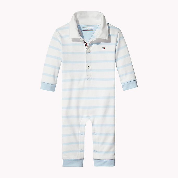 TOMMY HILFIGER Stripe Overall - BLACK IRIS - TOMMY HILFIGER Babies - main image