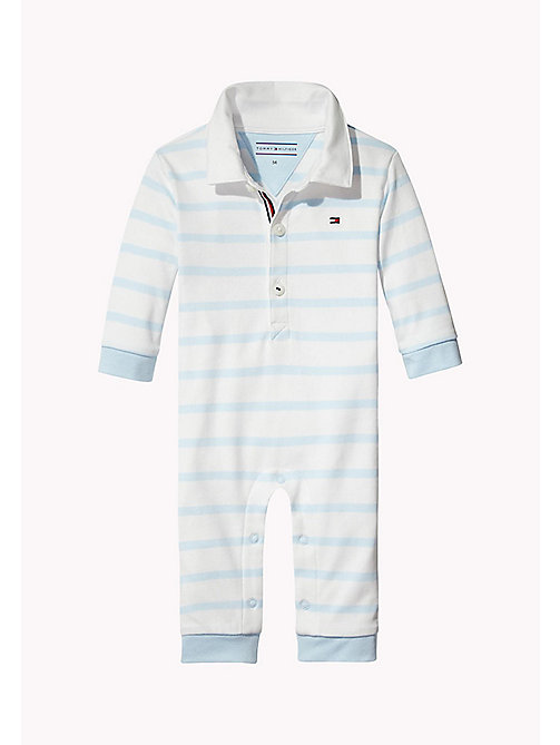 TOMMY HILFIGER Tutina a righe all-over - BABY BLUE - TOMMY HILFIGER Neonato - immagine principale
