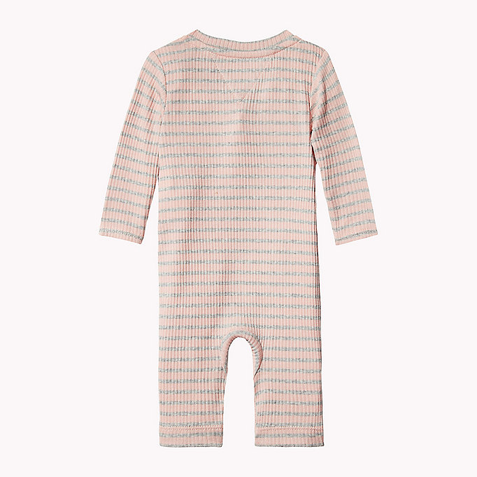 TOMMY HILFIGER Ribbed Stripe Baby Coverall - BLACK IRIS - TOMMY HILFIGER Babies - detail image 1