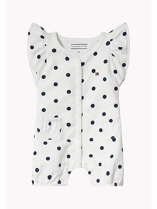 TOMMY HILFIGER Dotted Baby Romper - BLACK IRIS - TOMMY HILFIGER Girls - main image
