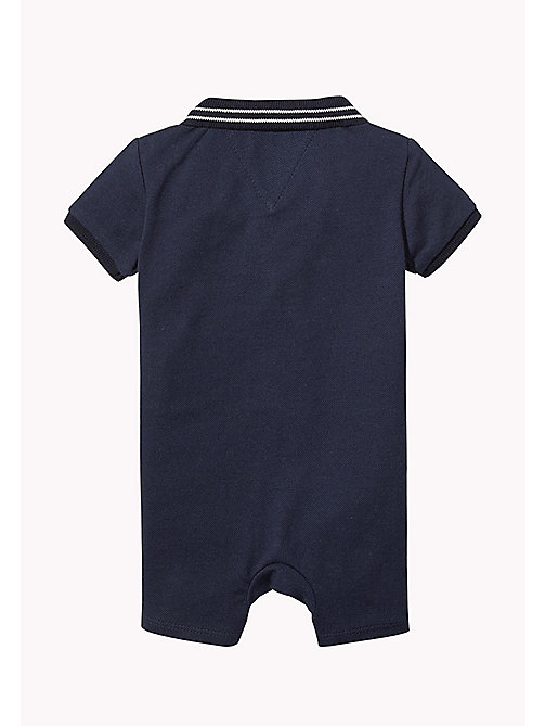 TOMMY HILFIGER Colour-Blocked Flag Romper - BLACK IRIS - TOMMY HILFIGER Boys - detail image 1