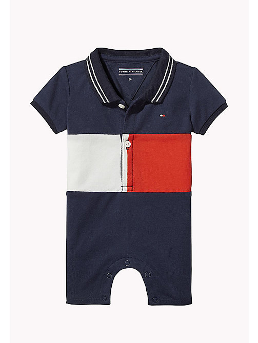 TOMMY HILFIGER Colour-Blocked Flag Romper - BLACK IRIS - TOMMY HILFIGER Boys - main image