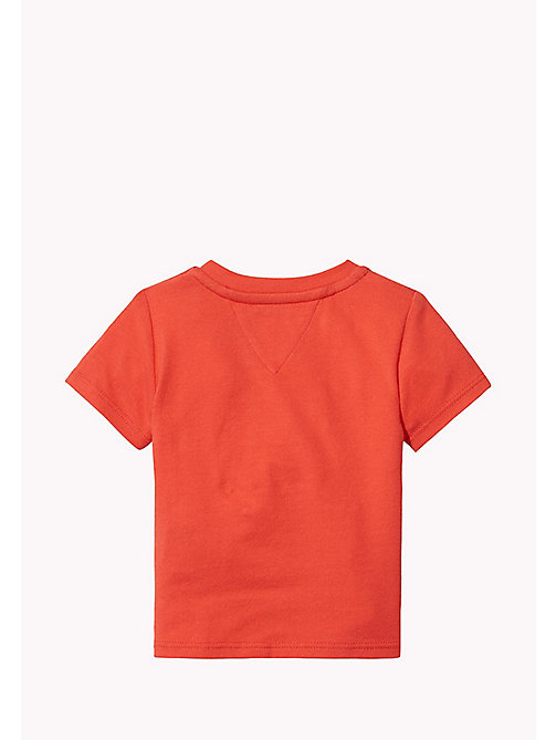 TOMMY HILFIGER T-shirt neonato con logo - FLAME SCARLET - TOMMY HILFIGER Neonato - dettaglio immagine 1