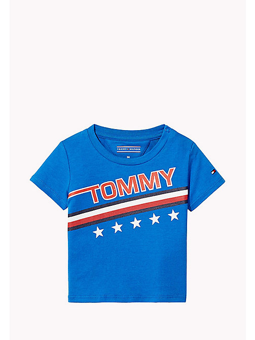 TOMMY HILFIGER Star And Stripe Logo Print T-Shirt - NAUTICAL BLUE -  Boys - main image