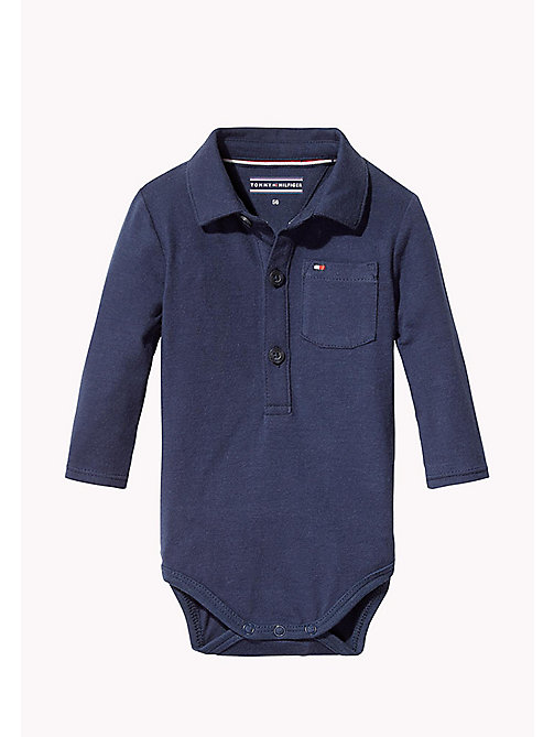 TOMMY HILFIGER Long Sleeved Bodysuit - BLACK IRIS - TOMMY HILFIGER Babies - main image
