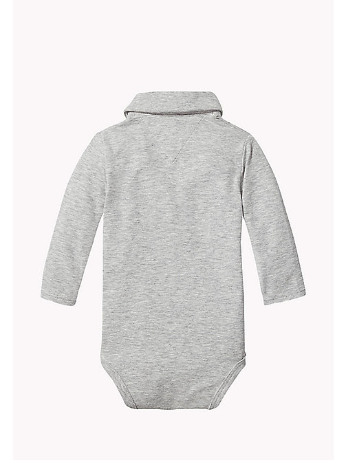 TOMMY HILFIGER Long Sleeved Bodysuit - LIGHT GREY HTR - TOMMY HILFIGER Babies - detail image 1