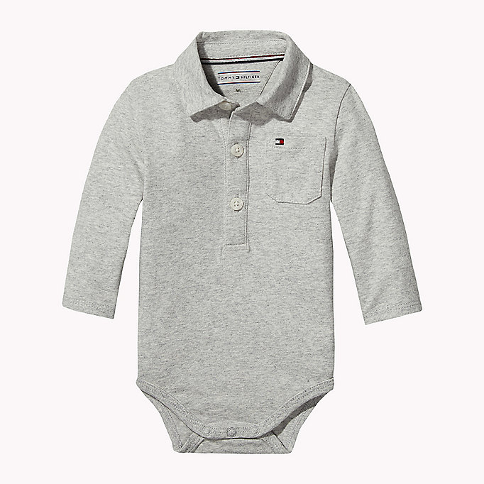 TOMMY HILFIGER Long Sleeved Bodysuit - BLACK IRIS - TOMMY HILFIGER Kids - main image