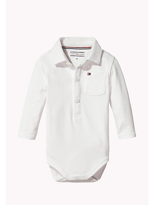 TOMMY HILFIGER Long Sleeved Bodysuit - BRIGHT WHITE - TOMMY HILFIGER Boys - main image