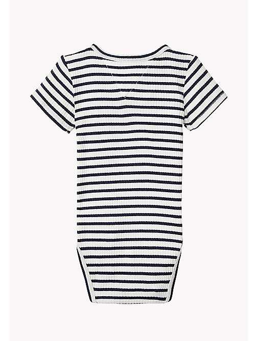 TOMMY HILFIGER Stripe Rib Knit Bodysuit - BLACK IRIS -  Boys - detail image 1