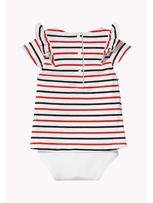 TOMMY HILFIGER Gestreifter Baby-Body - FLAME SCARLET -  Mädchen - main image 1