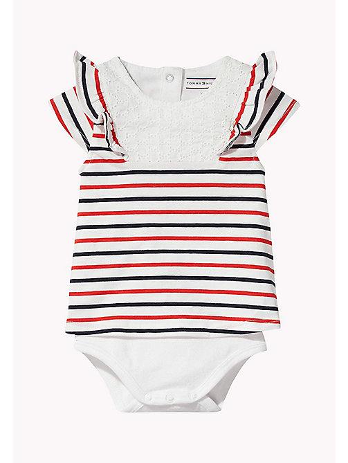 TOMMY HILFIGER Gestreifter Baby-Body - FLAME SCARLET -  Mädchen - main image