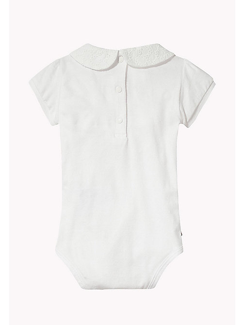TOMMY HILFIGER Peter Pan Collar Bodysuit - BRIGHT WHITE - TOMMY HILFIGER Kids - detail image 1