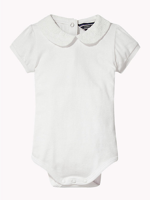 TOMMY HILFIGER Peter Pan Collar Bodysuit - BRIGHT WHITE - TOMMY HILFIGER Babies - main image