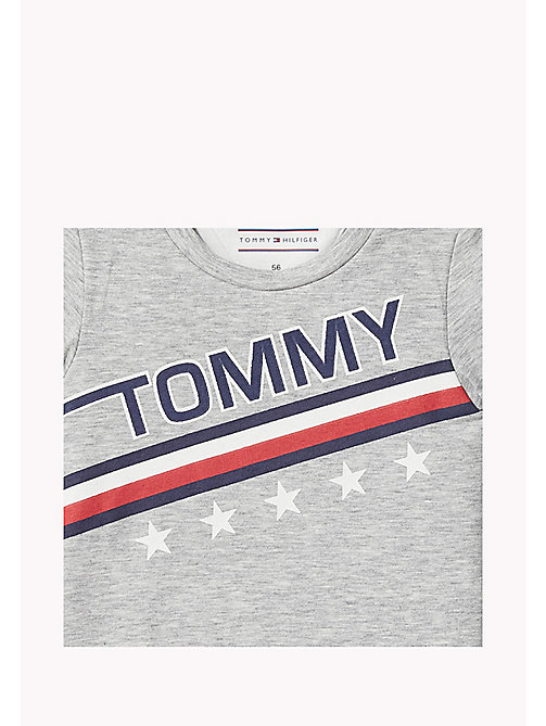 TOMMY HILFIGER Baby Bodysuit - LIGHT GREY HTR - TOMMY HILFIGER Boys - detail image 1