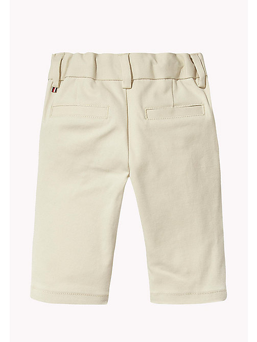 TOMMY HILFIGER Stretch Chinos - OYSTER GRAY -  Boys - detail image 1