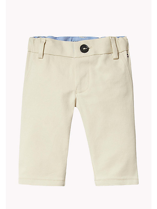 TOMMY HILFIGER Stretch Chinos - OYSTER GRAY -  Boys - main image