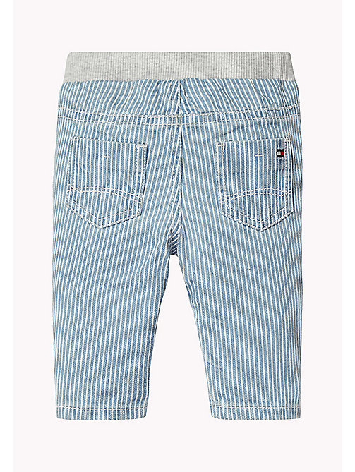 TOMMY HILFIGER Stripe Baby Trousers - INDIGO BLUE - TOMMY HILFIGER Boys - detail image 1