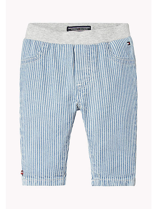 TOMMY HILFIGER Stripe Baby Trousers - INDIGO BLUE - TOMMY HILFIGER Boys - main image