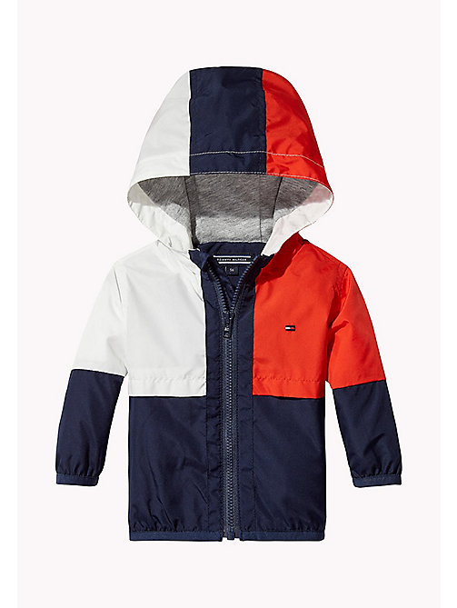 TOMMY HILFIGER Signature Colour-Blocked Jacket - BLACK IRIS - TOMMY HILFIGER Boys - main image