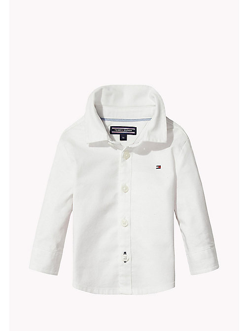 TOMMY HILFIGER Oxford Cotton Shirt - BRIGHT WHITE - TOMMY HILFIGER Boys - main image
