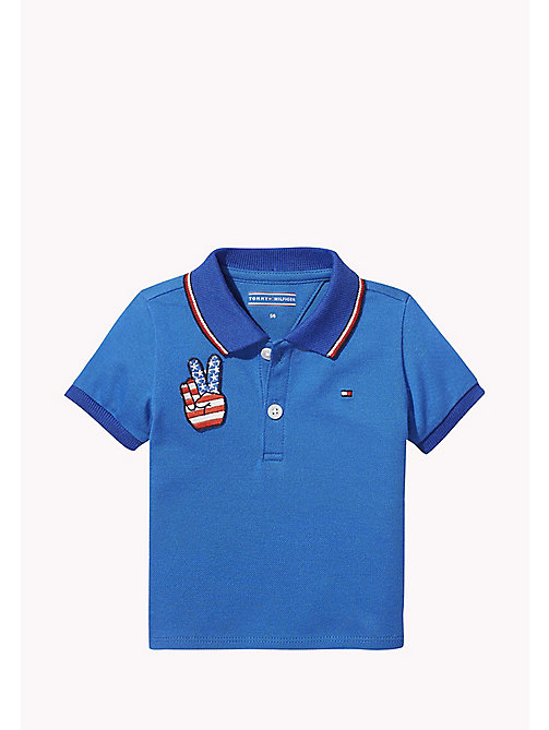TOMMY HILFIGER Badge Detail Polo Shirt - NAUTICAL BLUE - TOMMY HILFIGER Boys - main image