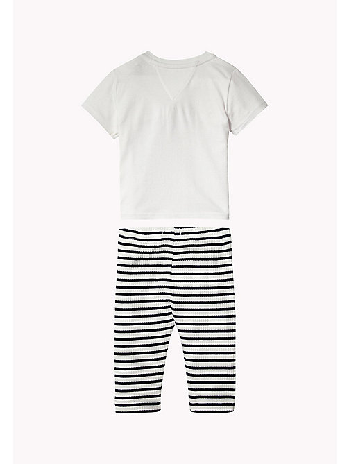 Cotton Two-Piece Gift Set - BRIGHT WHITE - TOMMY HILFIGER Kids - detail image 1