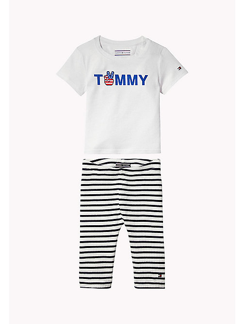 TOMMY HILFIGER Cotton Two-Piece Gift Set - BRIGHT WHITE - TOMMY HILFIGER Boys - main image