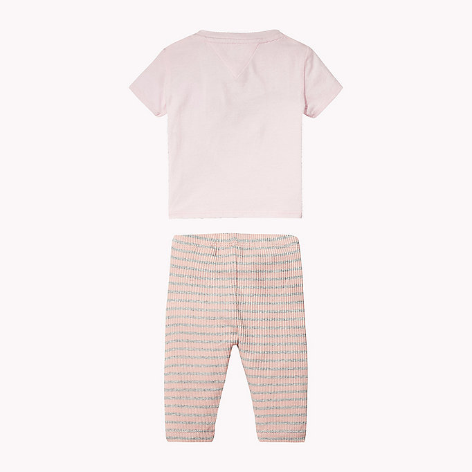 TOMMY HILFIGER Cotton Two-Piece Gift Set - BRIGHT WHITE - TOMMY HILFIGER Kids - detail image 1
