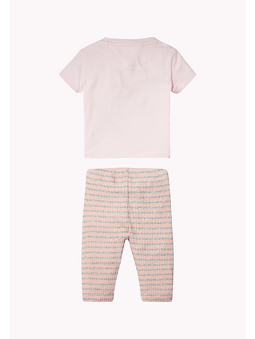 TOMMY HILFIGER Cotton Two-Piece Gift Set - PEACHSKIN HTR - TOMMY HILFIGER Girls - detail image 1