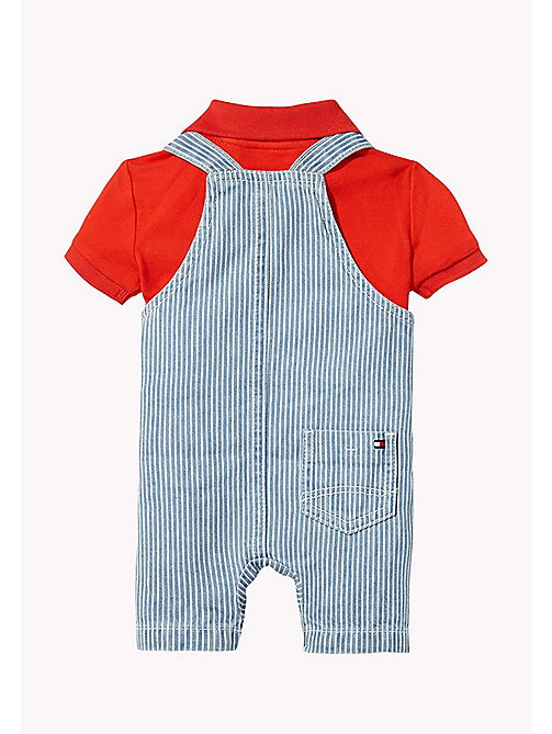 TOMMY HILFIGER Two Piece Dungaree Set - INDIGO BLUE - TOMMY HILFIGER Boys - detail image 1