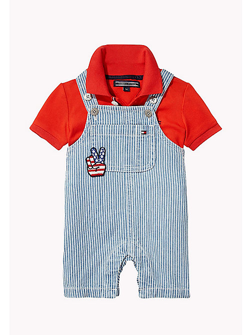 TOMMY HILFIGER Two Piece Dungaree Set - INDIGO BLUE - TOMMY HILFIGER Boys - main image