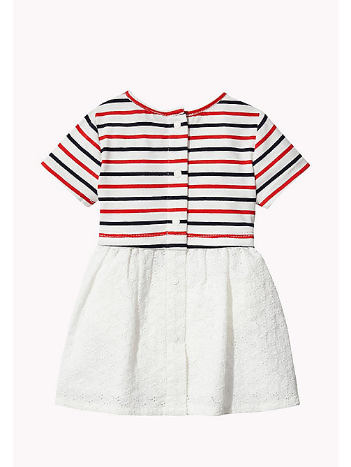 TOMMY HILFIGER Stripe Cotton Dress - FLAME SCARLET - TOMMY HILFIGER Kids - detail image 1