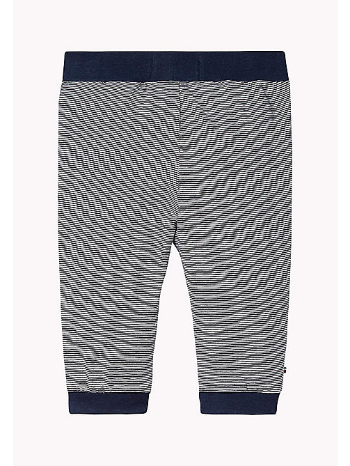 TOMMY HILFIGER Stripe Jersey Baby Trousers - NAVY BLAZER - TOMMY HILFIGER Babies - detail image 1