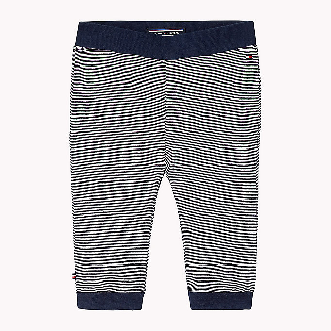 TOMMY HILFIGER Stripe Jersey Baby Trousers - FLAME SCARLET - TOMMY HILFIGER Babies - main image