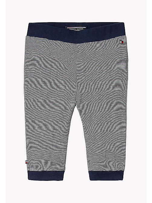 TOMMY HILFIGER Stripe Jersey Baby Trousers - NAVY BLAZER - TOMMY HILFIGER Babies - main image