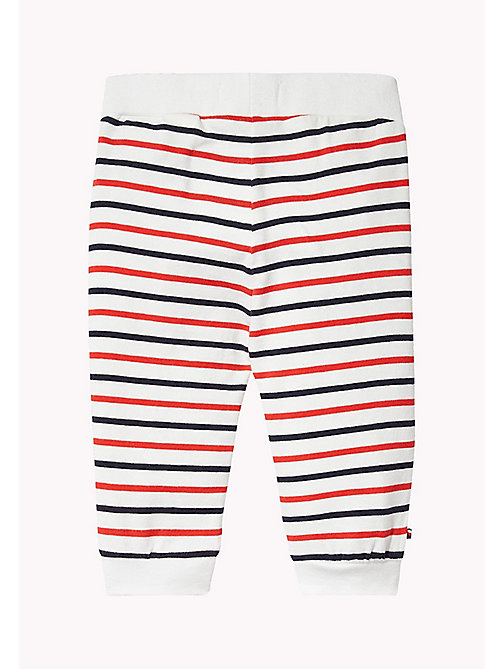 TOMMY HILFIGER Stripe Jersey Baby Trousers - FLAME SCARLET - TOMMY HILFIGER Boys - detail image 1