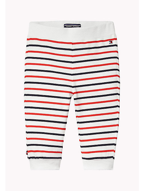 TOMMY HILFIGER Stripe Jersey Baby Trousers - FLAME SCARLET - TOMMY HILFIGER Boys - main image