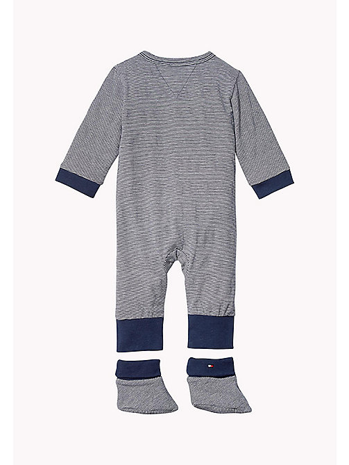 TOMMY HILFIGER Playsuit, Bib and Booties Gift Set - NAVY BLAZER - TOMMY HILFIGER Boys - detail image 1