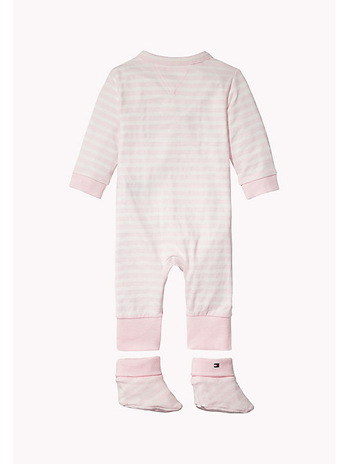TOMMY HILFIGER Playsuit, Bib and Booties Gift Set - BALLERINA - TOMMY HILFIGER Girls - detail image 1